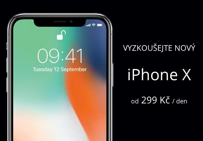 Chcete si vyzkoušet iPhone X? Půjčte si ho od 299 Kč/den