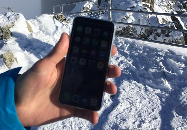 Test iPhonu X v mrazivých podmínkách